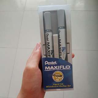 BNIP Pentel Maxiflo Liquid Ink Whiteboard Marker Set