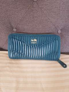 My Preloved Authentic Coach Wallet emerald green limited edition😍❤