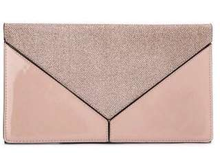 Gold and Nude clutch bag