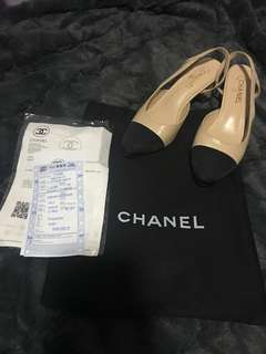 Chanel classic sling back shoes