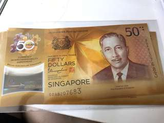 CIA 50 years Anniversary Singapore $50