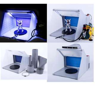 Available Now not pre order scams HOBBY PORTABLE SPRAY BOOTH COMPRESSOR KIT