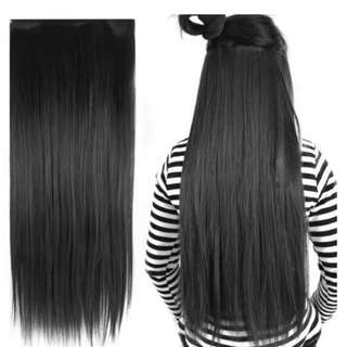 Hair Extension Black Silky Straight