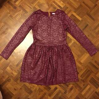Marks & Spencer Metallic Lace Dress 12-13yrs