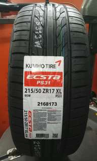 215/50/17 Kumho PS31 Tires, lowest price, cheapest korean brand tyre