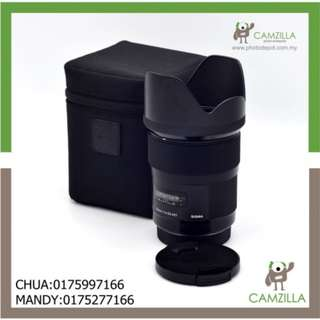 USED SIGMA ART LENS 35mm 1:1.4 DG FOR CANON
