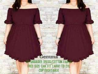 Restock!! Best seller!!   350 ▪On Hand   Gemma plus size dress   Free size can fit L to 2XL frame ▪Cotton fabric