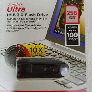 Sandisk Ultra USB3.0 Flash Drive 256GB