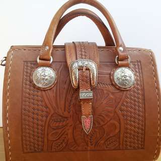 American West Vintage Leather Doctors Bag