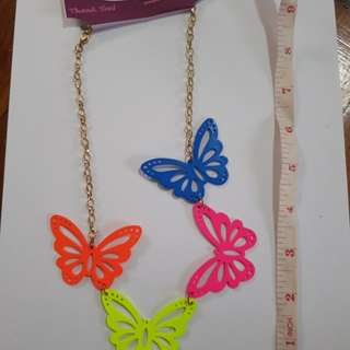 Fashion necklqce butterfly
