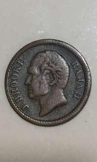 Sarawak 1863  quarter cents old coin