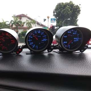 Depo Racing Water Temp, Oil Temp,Oil Press and Voltage Gauges