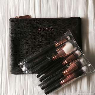 ZOEVA rose gold makeup brush set