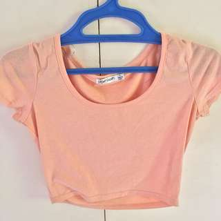 Papers and scissors cropped top