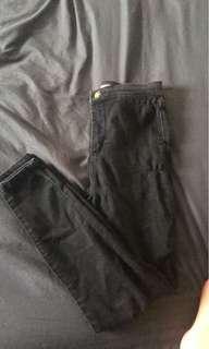 Supre black denim jeans size 10