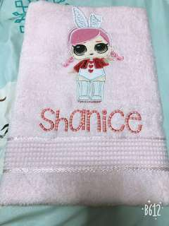 Personalized/customised embroidery towels