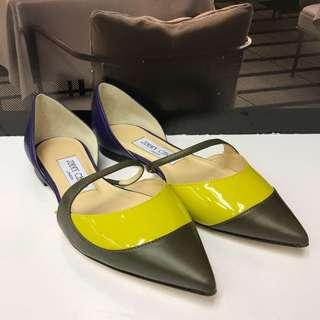 🈹⬇️Brand New Jimmy Choo Leather Flat Shoes