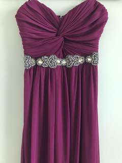Plum long gown