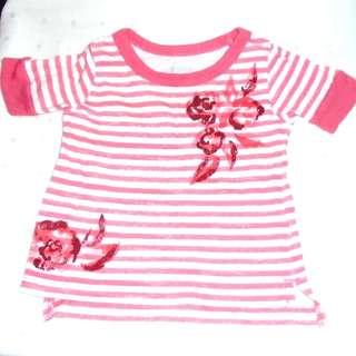 Charity Sale! OSHKOSH BGOSH girl's floral top size 12 months