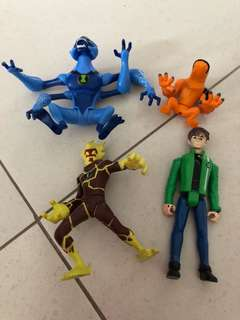 PL Ben 10 4pcs Bundle Figurine