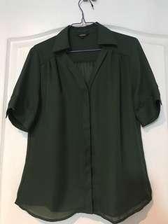 Essenxa chiffon medium dark green unused. Srp 995