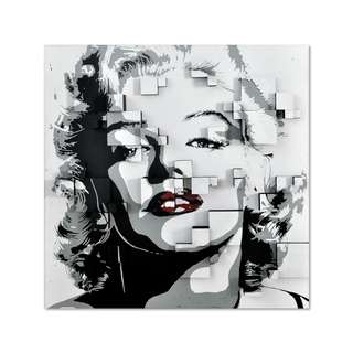 Marilyn Monroe Red Lips 3D Art Canvas