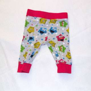 Charity Sale! Authentic Sesame Street Pants Size 3-6 months 63cm 6kg
