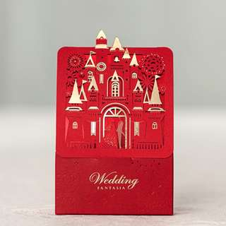 Luxury Red/Snow White Embroidery Candy Box