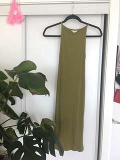 Never worn green bodycon dress