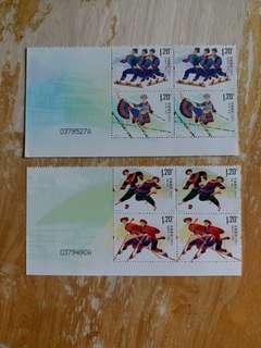 中國郵票 全新2011-22 一套二全四方連