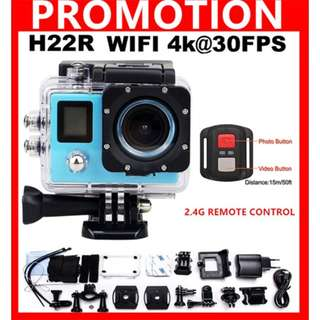 H22R Wifi Sports Action Camera 4K 1080P 2LCD 170D Lens