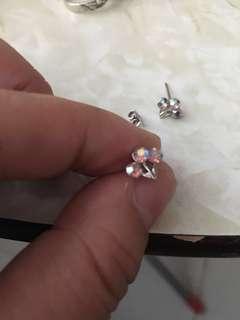 水晶耳環少一個托