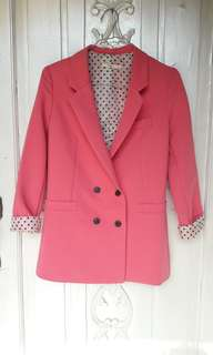 Pink Blazer polkadot lining