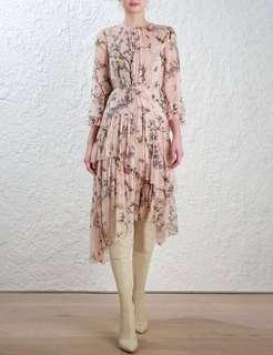 Zimmermann Maples Tier Long Dress Size 0