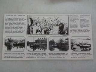 Vintage Cardboard Royal Mail Print Inlands Waterway
