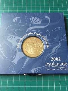 2002 Esplanade Theatres on the Bay $5 Coin