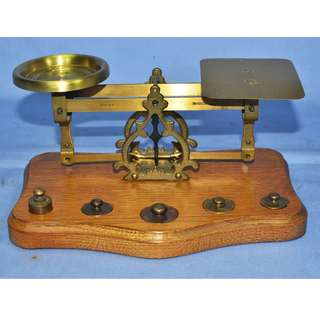 VINTAGE ANTIQUE WESTA WEST GERMANY POSTAL SCALE COMPLETE WITH WEIGHTS