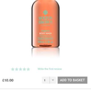 Molton Brown London gingerlily body wash 100ml **20% off**
