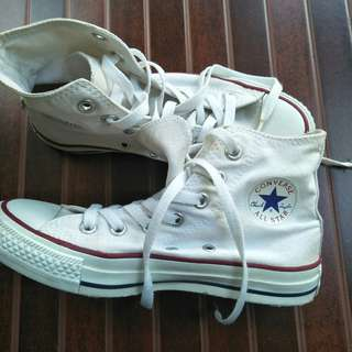 Converse white high original (nego halus)