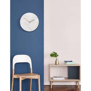 """12"""" Real Marble Clock Wall in White Stone"""