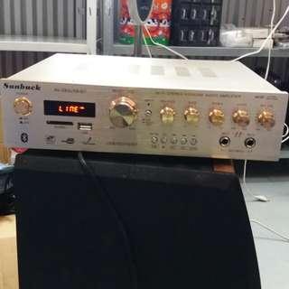 Brand New Beautiful Light Gold Medium Size Bluetooth 5.0 Channel Karaoke Amplifier