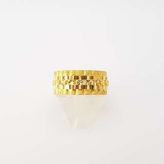 "916 Gold ""Rolex"" Ring - Wide Band"