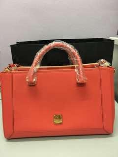 MCM Red Shoulder Sling Bag