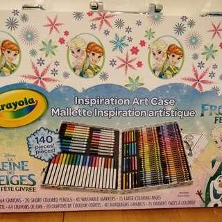 Crayola Frozen Fever  inspiration art case 全套140支颜色