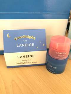 Laneige Sleeping Mask and Lip Mask