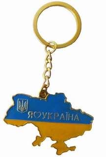 🚚 烏克蘭地圖鑰匙圈