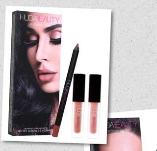 Huda Beauty Liquid Matte set Trendsetter and bombshell