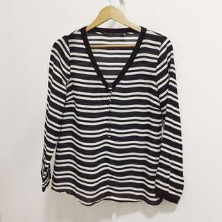 Zara Black & White Top