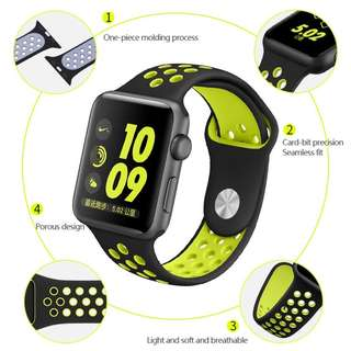 New!!! Nike Style Sport Band For Apple Watch Series
