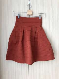H&M Maroon Flare Skirt